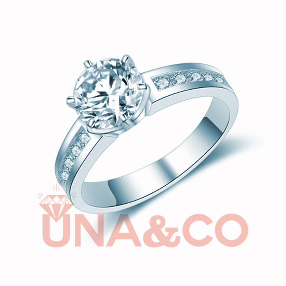 Special Design Six Prong Moissanite Ring