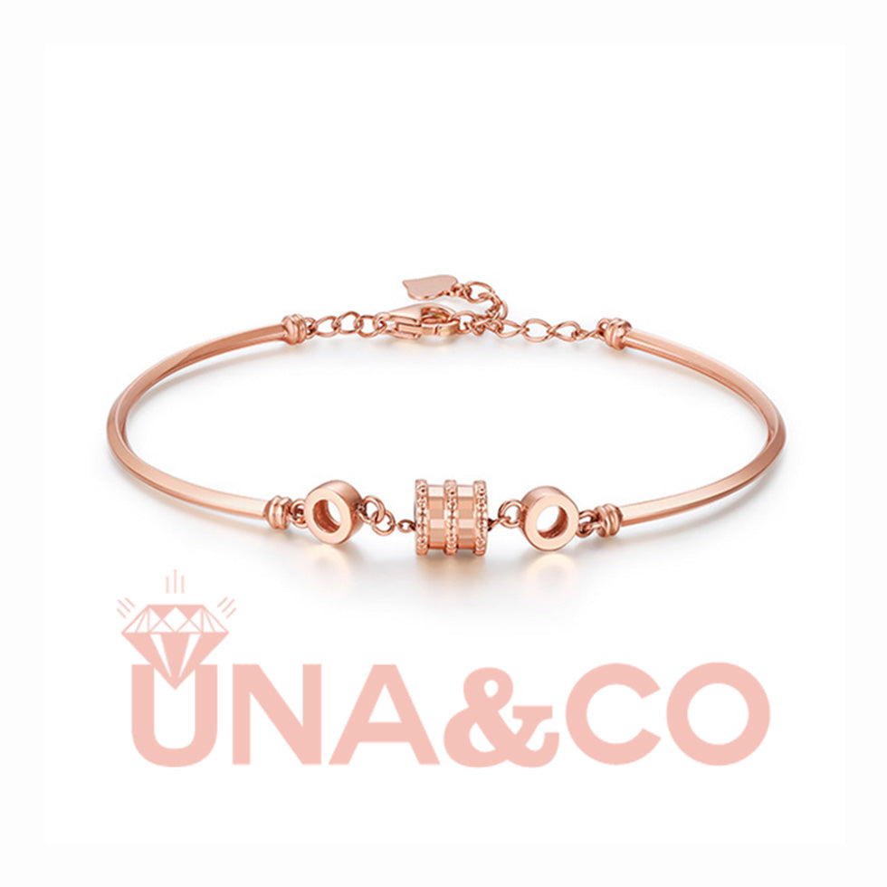 Rose Gold Fashionable Thin Waist Spring Bracelet