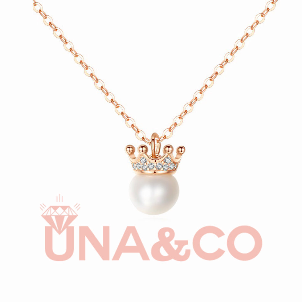 Light Luxury Elegant Crown Pearl Necklace