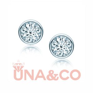 Round Insert CVD Diamond Earrings