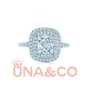 Square-shaped Shiny CVD Diamond Ring