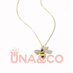 Lovely Fresh Bee Set with CVD Diamond Necklace