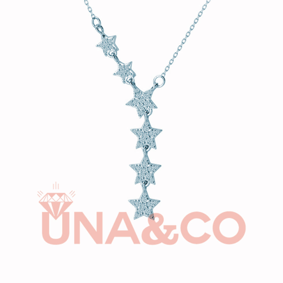 Romantic Stars Collarbone CVD Diamond Necklace