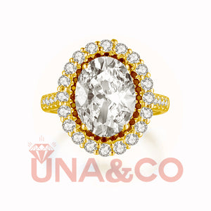 18K Yellow Gold The Queen 4.5CT Moissanite Ring