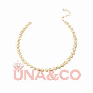 Unique and Graceful Pearl Collarbone Necklace