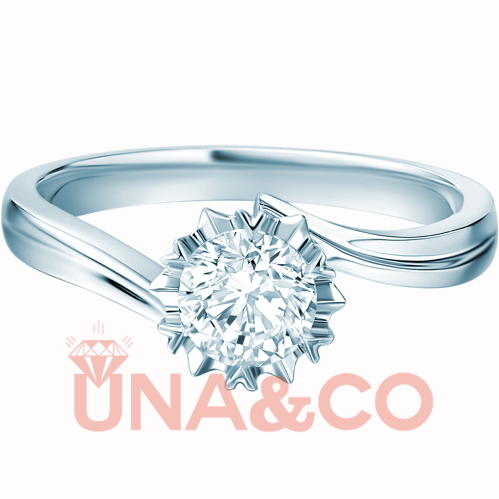 Exquisite Six-petal Snowflake CVD Diamond Ring