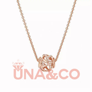 Hollowed-out Elegant Rose Gold Clavicle Chain