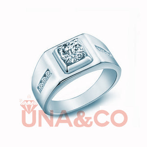 Luxury Noble Engagement CVD Diamond Ring for men