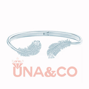 Light luxury feather open bracelet