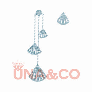 Unique and Sweet Fan-shaped Asymmetrical Earrings