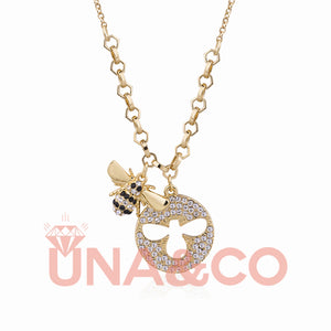 Delicate and Cute Bee Dancing Necklace