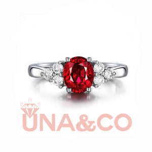 Blooming Flower Design Ruby Ring