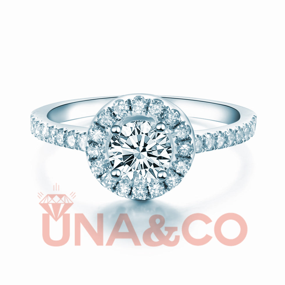 Four Prong Round CVD Diamond Ring