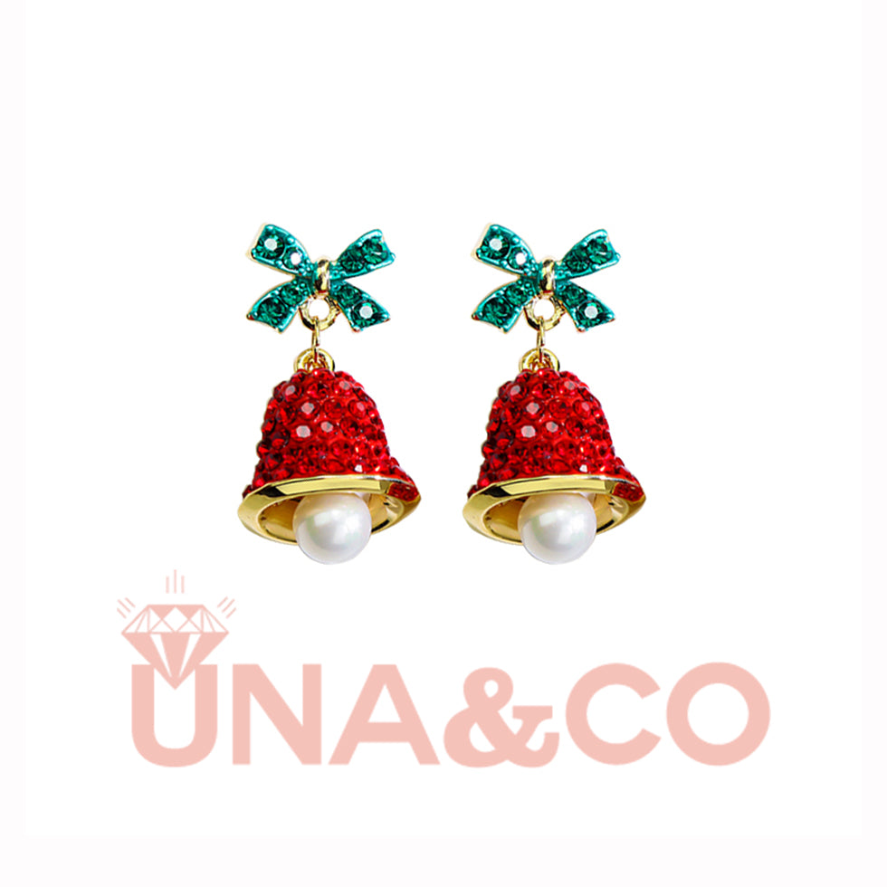 Christmas Elegant and Chic Red Bell Earrings