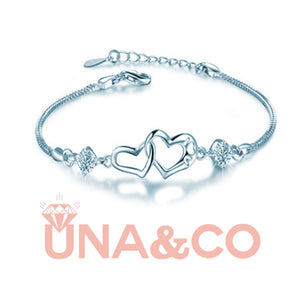 Connected Heart to Heart Bracelet