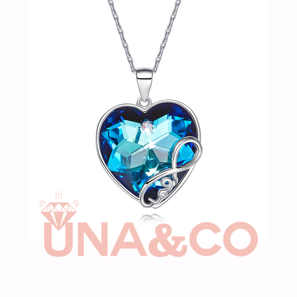 DREAM BLUE LOVE HEART NECKLACE
