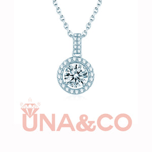 Four Prong Round CVD Diamond Necklace