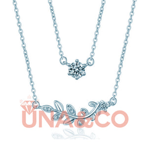 Double Leaves Special Design Necklace