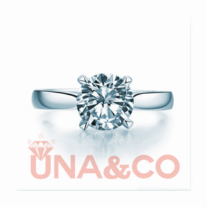 Classic Four Prong Setting CVD Diamond Ring