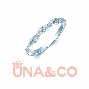 Exquisite Twist CVD Diamond Ring