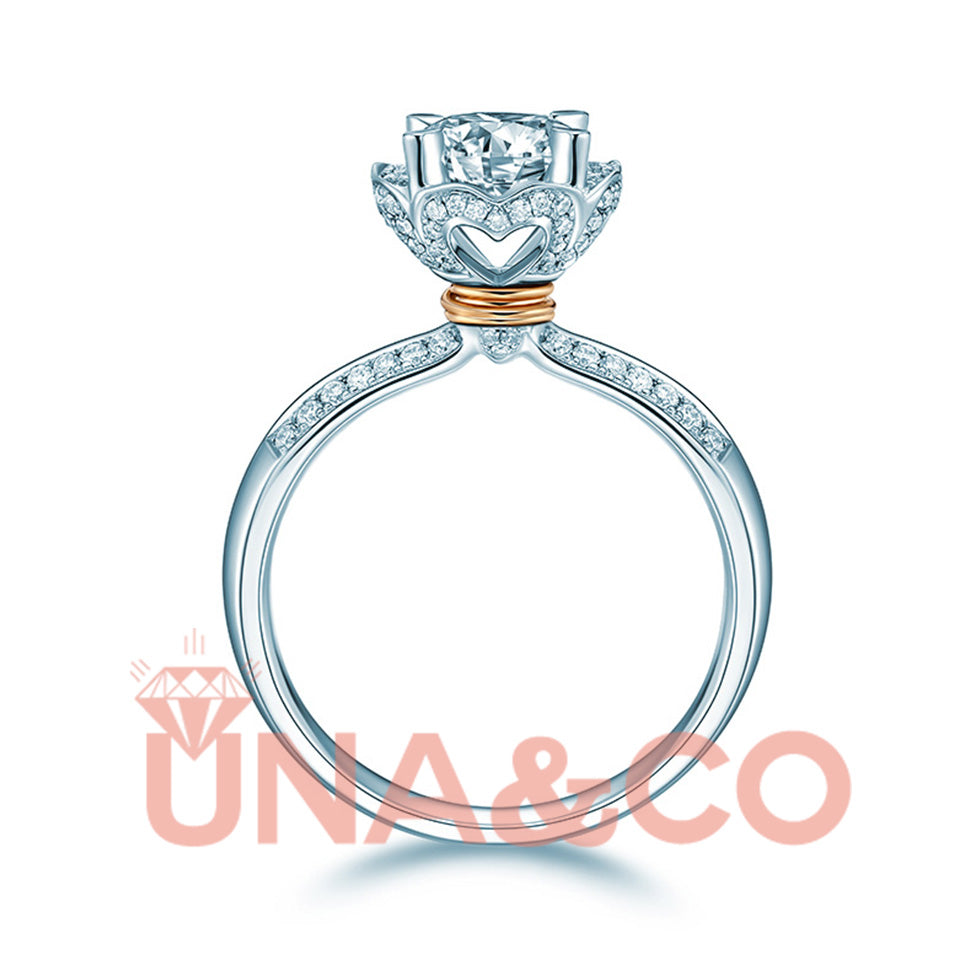 CVD Diamond Ring Twined by Rosegold