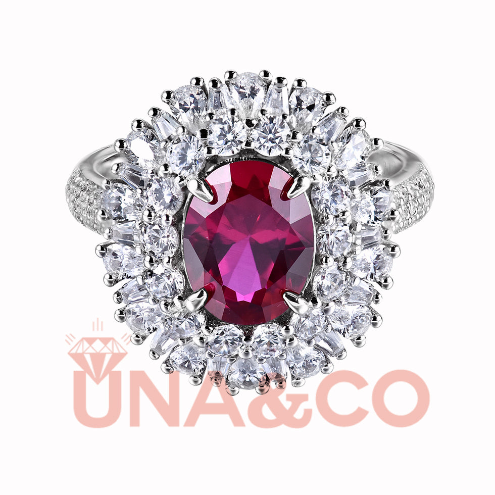 Queen Red Gem Ring