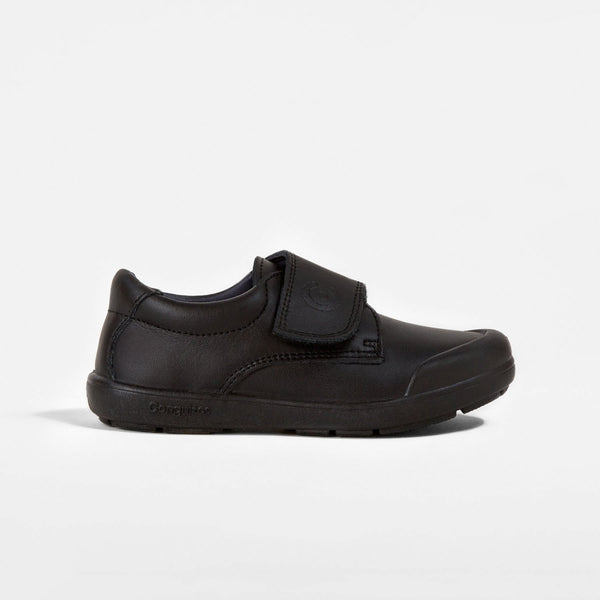 Boy's Black Washable Leather School Shoes