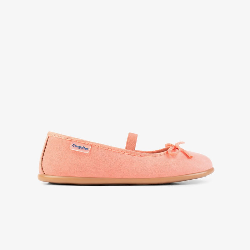Girl's Coral Basic Ballerinas