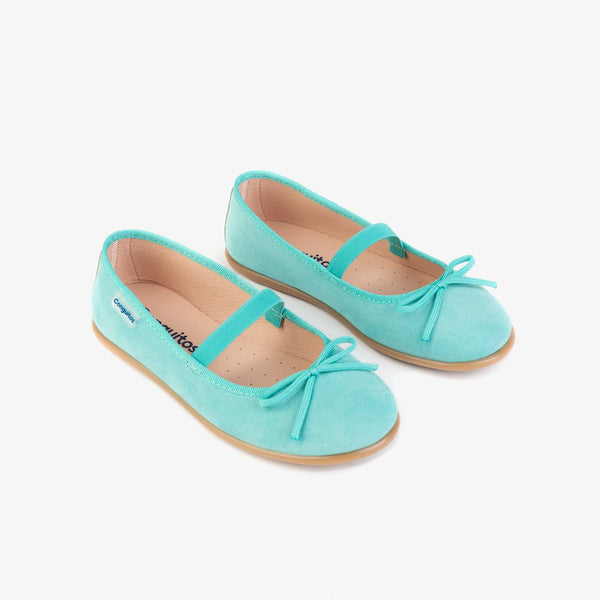 Girl's Blue Basic Ballerinas