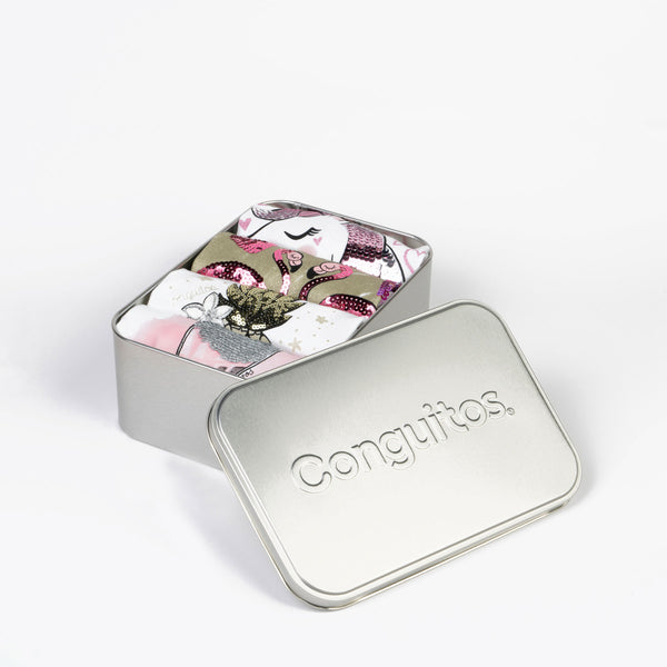 Conguitos' metallic box