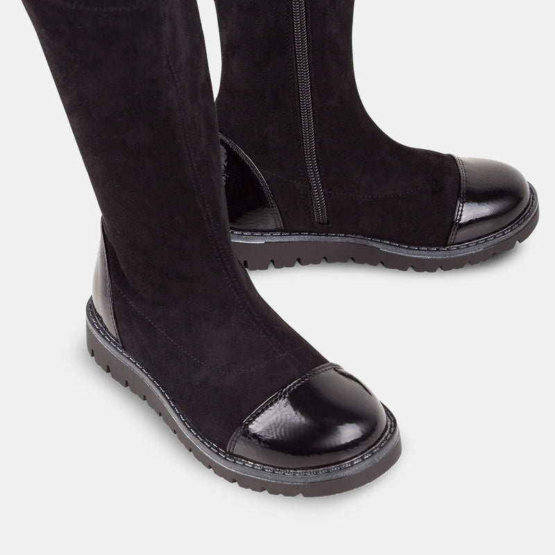 Girl's Black High Boots