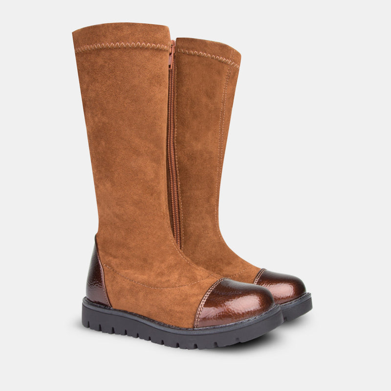 Girl's Brown High Boots