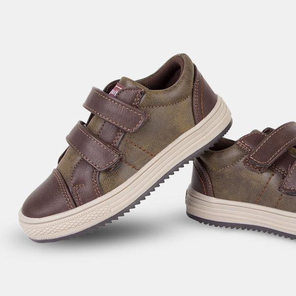Boys Brown Nobuck Sneakers