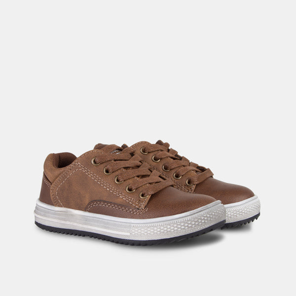 Boys Brown Nobuck Shoes