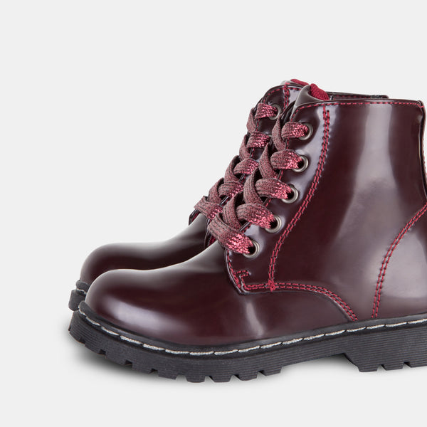 Girl's Wine Antik Boots