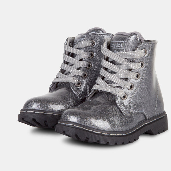 Girl's Glitter Lead Patent Leather Boots