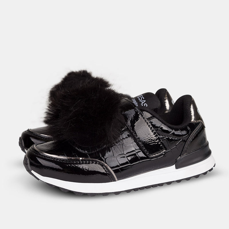 Girl's Black Patent Leather Shoes