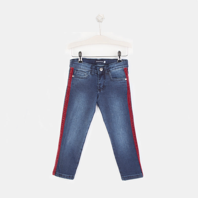 Girls Denim Side Strip Jeans