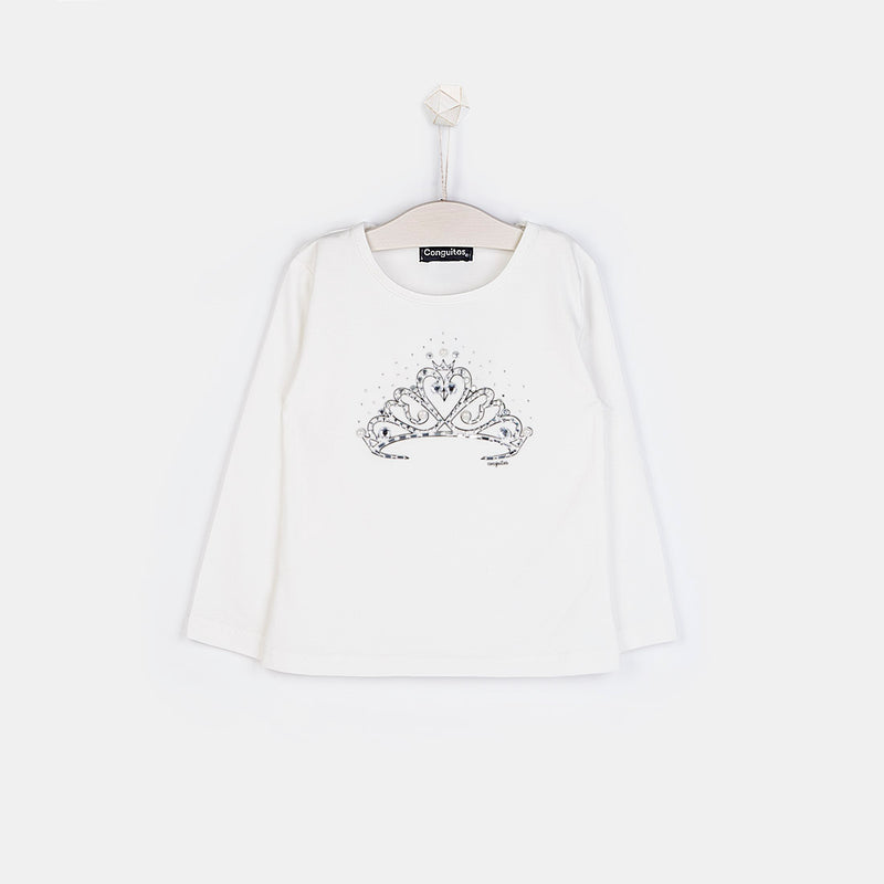 Girls Crown White T-shirt
