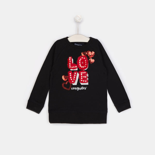Girls Love Black Sweatshirt