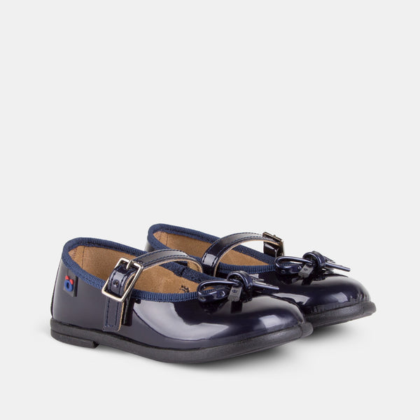 Babies Navy Patent Leather Mary Janes