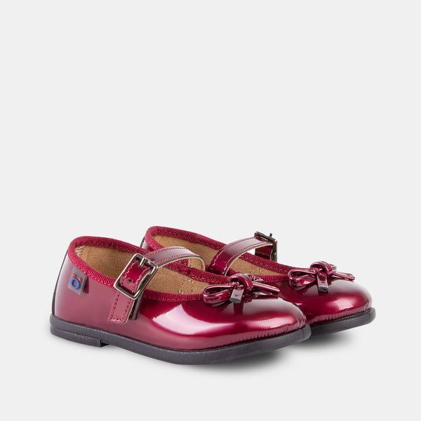 Babies Wine Patent Leather Mary Janes