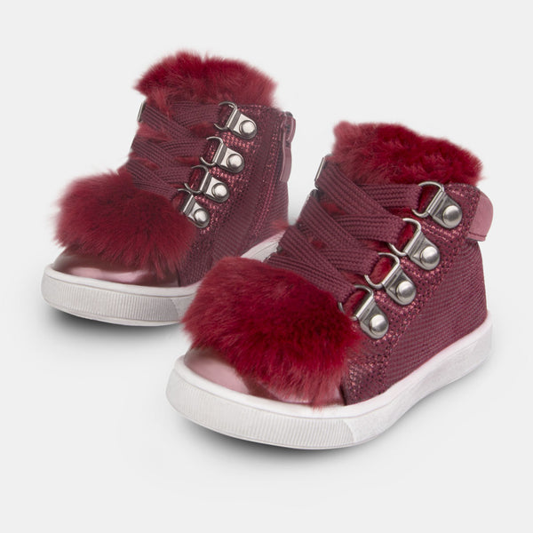 Babies Fantasy Wine Faux fur Booties