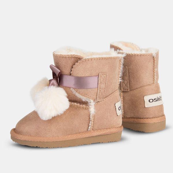 Babies Taupe Ribbon Australian Boots