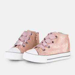 Baby's Metallized Pink Booties