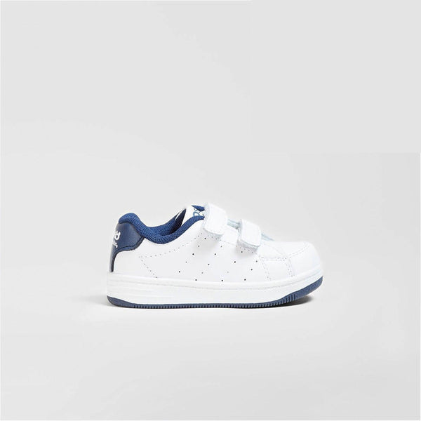 Babies Navy Washable Leather Trainers