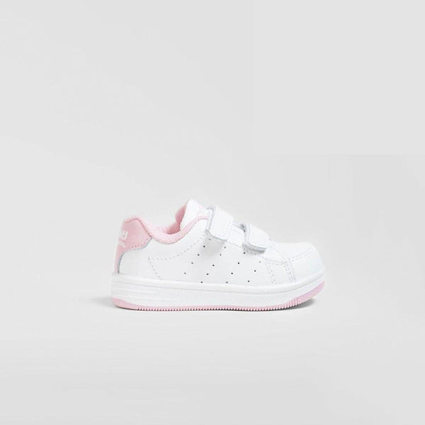 Babies Pink Washable Leather Trainers
