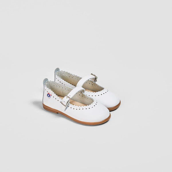 Babies White Leather Mary Janes