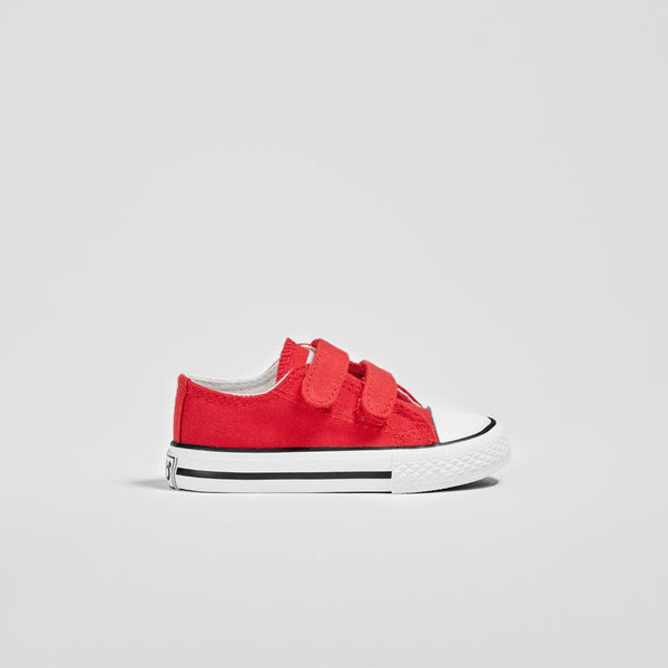 Babies Red Canvas Sneakers