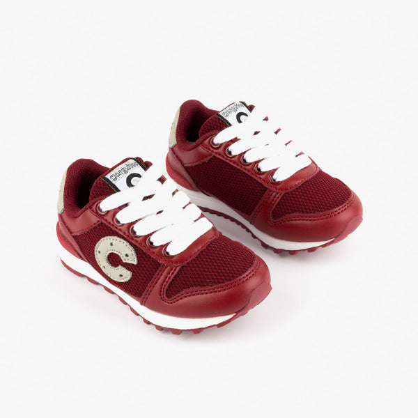 Unisex Bordeaux Sneakers with Lights